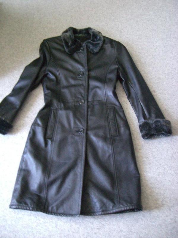 Damenbekleidung Mantel Kunstleder » Damenbekleidung