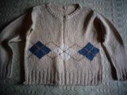 Damenbekleidung Pullover Kurz-Pullover mit Rhombenmuster