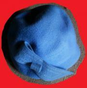 Damenhut Filzhut blau Gr 54cm