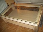 Designer Couch Tisch rosé Holz