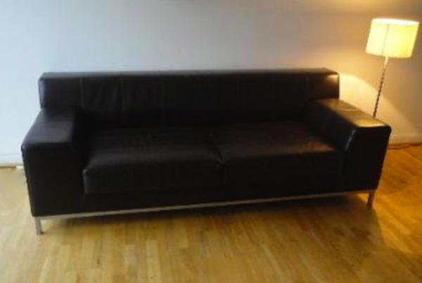 echtleder sofa couch ikea kramfors dunkelbraun im topzustand m nchen polster sessel. Black Bedroom Furniture Sets. Home Design Ideas