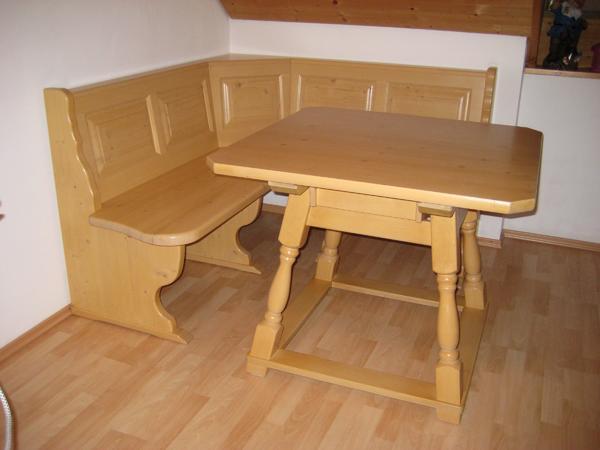 Eckbank massiv fichte  Eckbank Fichte massiv incl. Tisch in Peiting - Stilmöbel ...