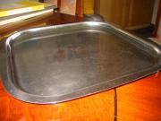 Edelstahl-Servierplatte 40x40 mit abgerundeten Ecken