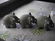 Elefantenfamilie zur Dekoration (