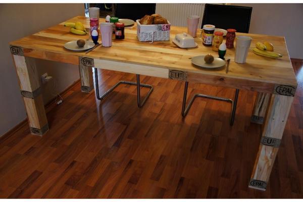 esstisch europaletten m bel in hamburg speisezimmer essecken kaufen und verkaufen ber. Black Bedroom Furniture Sets. Home Design Ideas