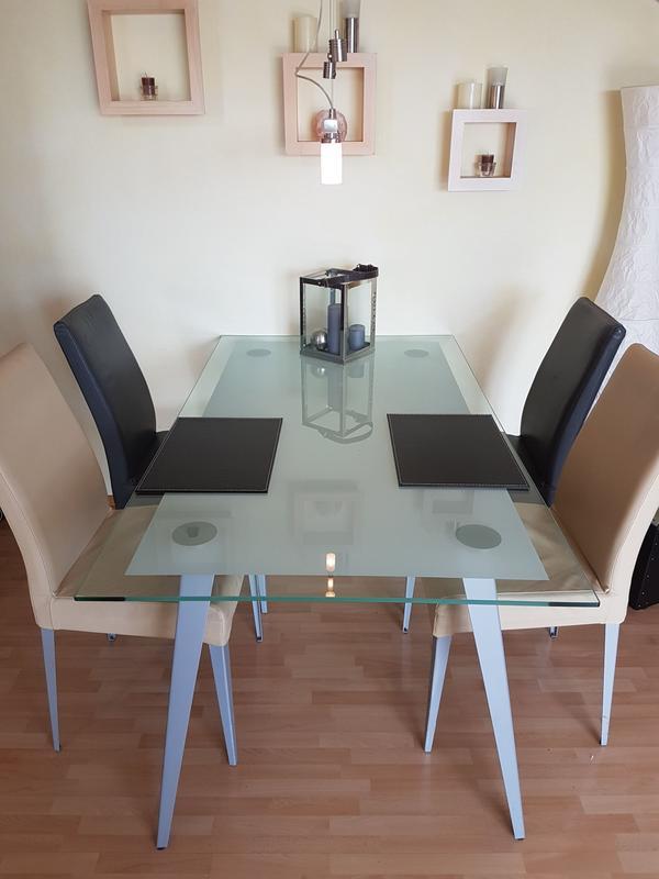 glas esszimmertisch neu und gebraucht kaufen bei. Black Bedroom Furniture Sets. Home Design Ideas