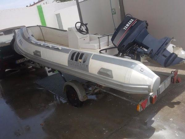 festrumpf schlauchboot rib motorboot mit hafentrailer 40. Black Bedroom Furniture Sets. Home Design Ideas