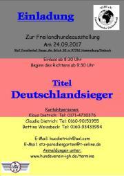 Freilandhundeausstellung in Hammelburg/