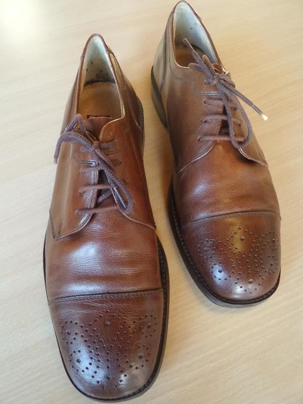 GALLUS Herren Schuhe Leder braun Gr. 43 Sehr gut! in