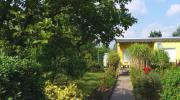 Garten, Massiv- Bungalow,