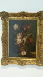 Gemälde Blumen Stilleben mit Signatur