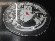 Glas - Tortenplatte Nikolaus