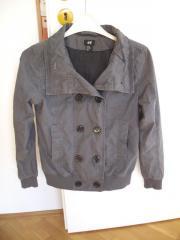 Graue Jacke Übergangsjacke für Mädchen