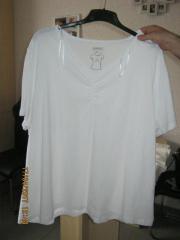 Größe 5XL Weißes T-Shirt mit V-Ausschnitt gebraucht kaufen  Gerlingen Gehenbühl