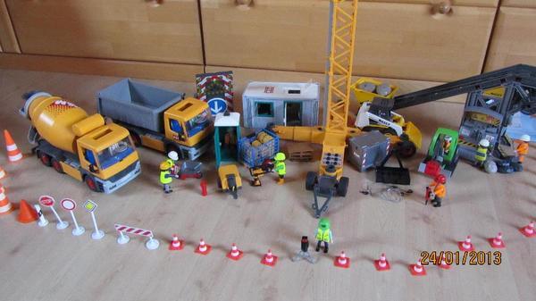 gro e playmobil baustelle in kirchheim spielzeug lego. Black Bedroom Furniture Sets. Home Design Ideas