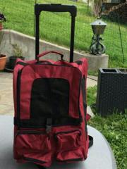 Haustiertragetasche-Rucksack-Trolley weinrot neu Abholbereit im