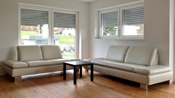 hochwertige sofagarnitur in leder von w schillig ungebraucht in weiler simmerberg polster. Black Bedroom Furniture Sets. Home Design Ideas