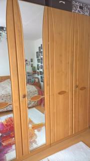 Hochwertiger Schlafzimmerschrank - Erle mit 6 Massivtüren, 3,00 m ...