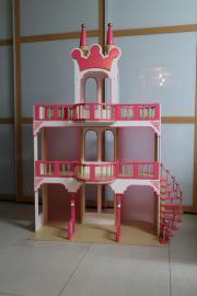 Holz Puppenhaus, Puppen, Wohnhaus, Schloss rosa Prinzessin gebraucht kaufen  Philippsburg Huttenheim