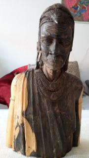 Holzfigur Massai