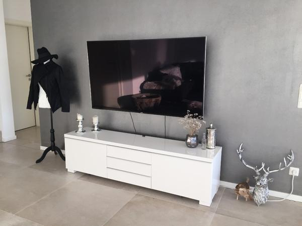 ikea besta burs tv bank kommode konsole lowboard hochglanz wei gebraucht in dortmund. Black Bedroom Furniture Sets. Home Design Ideas