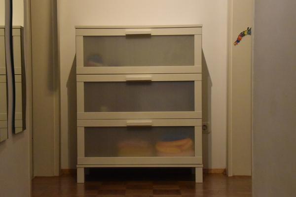 IKEA Kommode Aneboda weiß / 3 Schubladen 100 x 80 x 40 cm - Unterhaching - Verkaufe einesehr gut erhaltene Kommode- IKEA Aneboda in weiß- 3 große Schubladen mit halbtransparentem Vorderteil- Maße gesamt 100 cm hoch x 80 cm breit x 40 cm tief- absoluter Top Zustand - Unterhaching