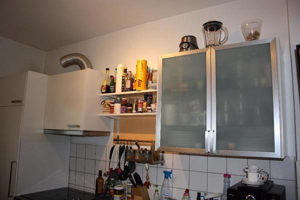 IKEA Küche weiß Elektrogeräte L-Form und gerade Zeile Nussbaum ... | {Küchen l form mit elektrogeräten 99}
