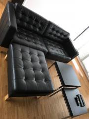 Ledersofa schwarz ikea  IKEA LANDSKRONA / KARLFORS / KARLSTADT Ledersofa, schwarz in ...