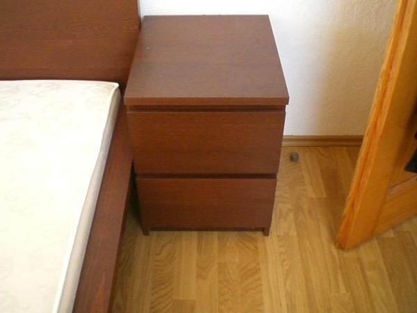 ikea nachttisch braun. Black Bedroom Furniture Sets. Home Design Ideas