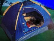 Kinder-Iglu-Zelt nie benutzt neuwertig blau-gelb