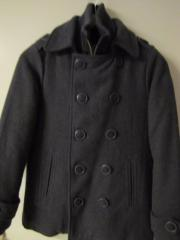 Kinder Seemanns-Jacke Pea Coat grau