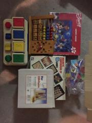 Kinderspielzeug Holz verschieden Spielesammlung