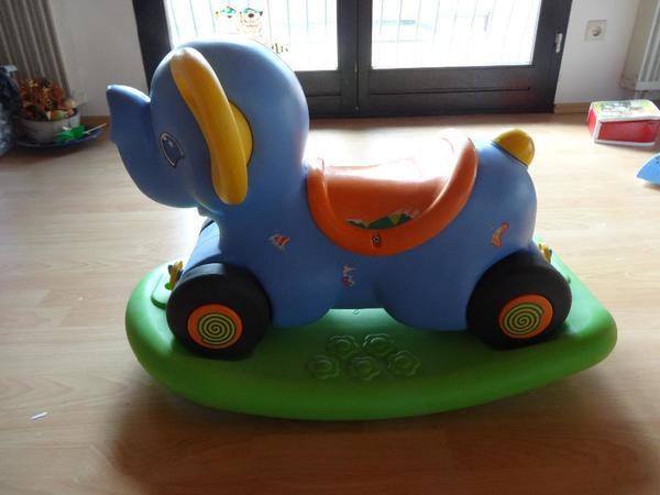 Kinderspielzeug Reitelefant Reitpferdchen Fahrrad-Schutzhelm
