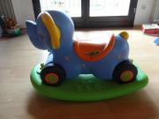 Kinderspielzeug Reitelefant, Reitpferdchen,