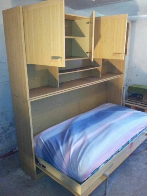 Kinderzimmer klappbett schrankbett 120x200 cm for Schrankbett kinderzimmer