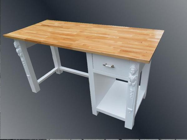 küchen arbeitstisch mit unterstellmöglichkeit für külschrank und