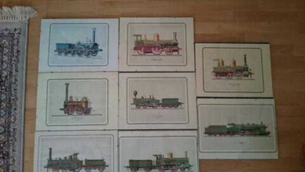 Kunstdruck Dampflok-Eisenbahn » Modelleisenbahnen