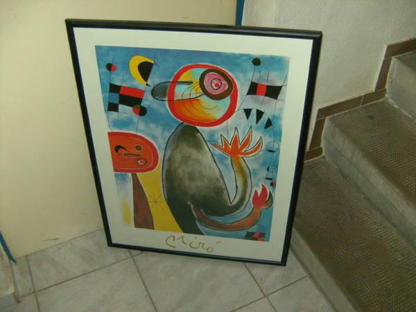 Kunstdruck mit schwarzem Rahmen