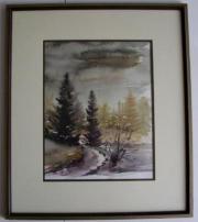 Landschafts-Aquarell von Gudrun Nill