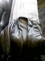 Lederjacke Farbe Grau