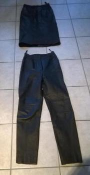 Lederrock Lederhose schwarz