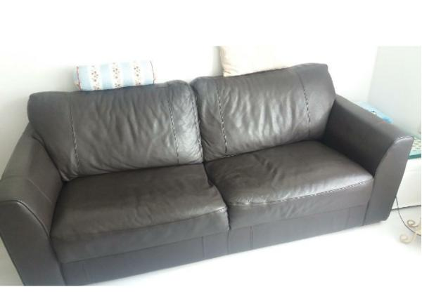 Ledersofa dunkelbraun  Ledersofa dunkelbraun in Hamburg - Polster, Sessel, Couch kaufen ...