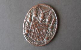 Münzen - Medaille Kupfer oval Got geb