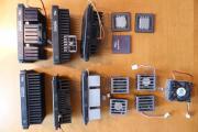 mehrere ältere Prozessoren und Lüfter