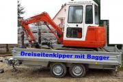 Minibagger Schaeff Vermietung Verleih Bagger