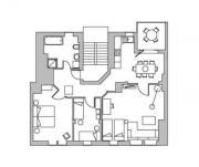 Möblierte (Penthouse) Appartement