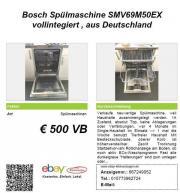 neuwertige Bosch Spülmaschine