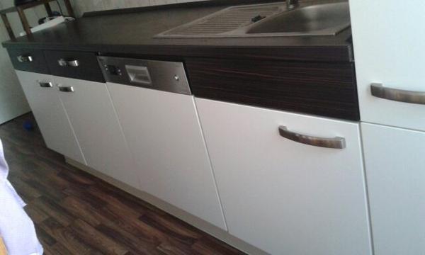 nobilia küche matt weiß/braun in berlin - küchenzeilen ... - Küche Braun Weiß