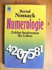 NOSSACK BERND - NUMEROLOGIE - ESOTERIK -GNOSIS - KABALLA