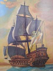 Ölgemälde Segelschiff -Tolles